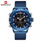 Naviforce 9153 Cyborg Men Watch - Blue