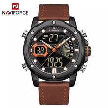 Naviforce 9172 Reisha Men Leather Watch - Brown