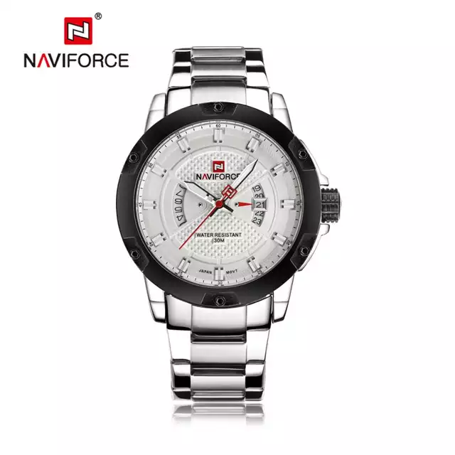 Naviforce 9085 Caliope Men Watch - Silver