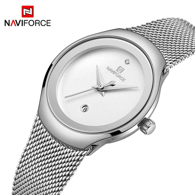 Naviforce 5004 Nebula Classic Women Watch - Silver