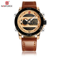 Naviforce 9097 Unicorn Men Watch - Brown