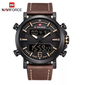 Naviforce 9135 Slingshot Men Watch - Brown