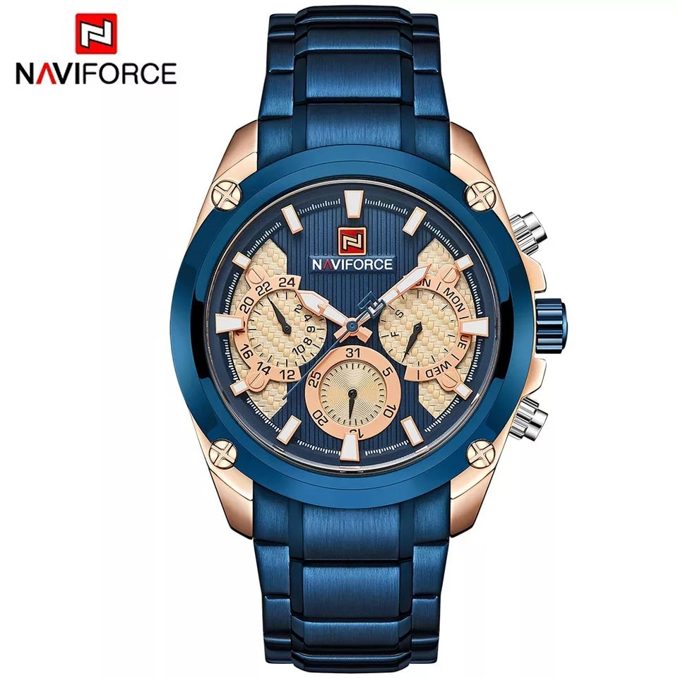 Naviforce 9113 Maestro Chronograph Watch - Blue