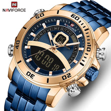 Naviforce 9181 Maverick Men Steel Watch - Blue