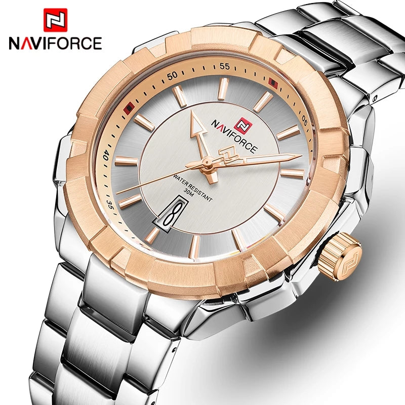 Naviforce 9176 Cannonade Men Watch - Silver