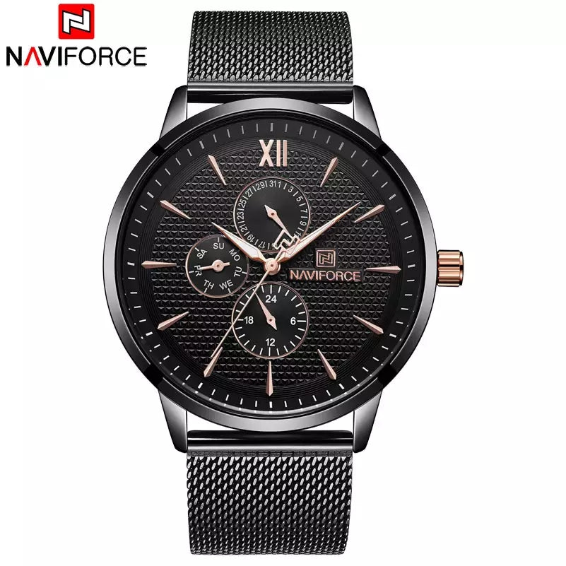 Naviforce 3003 Piper Unisex Watch - Black