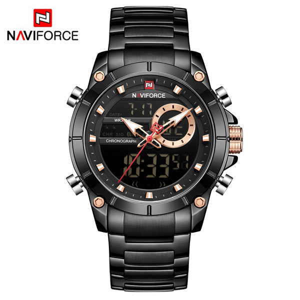 Naviforce 9163 Malibu Men Watch - Black
