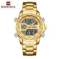 Naviforce 9190 Elektra Dual Tone Men Watch - Gold