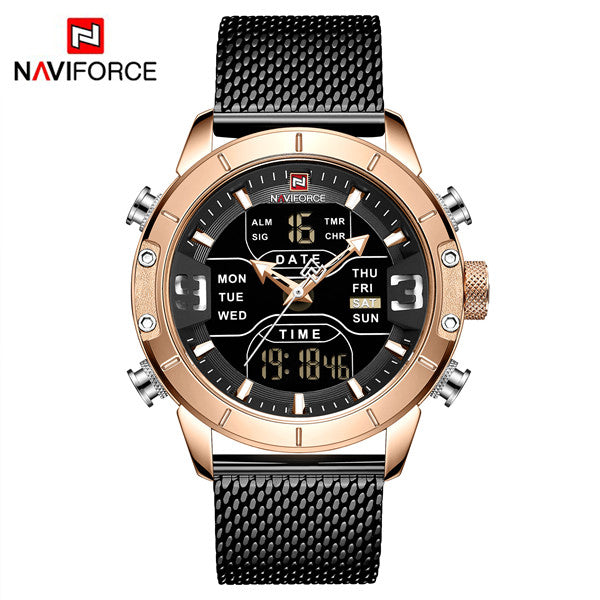 Naviforce 9153 Cyborg Men Watch - Black