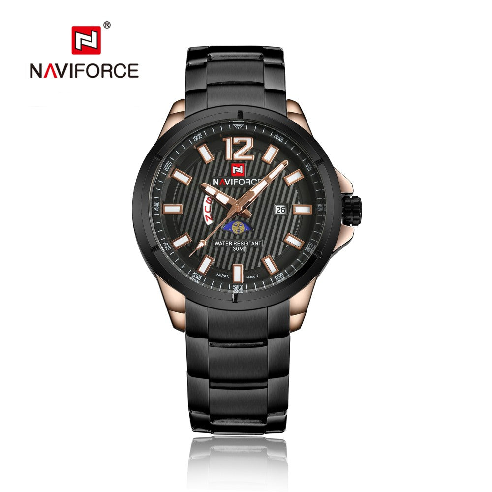 Naviforce 9084 Sturdy Metallic Men Watch