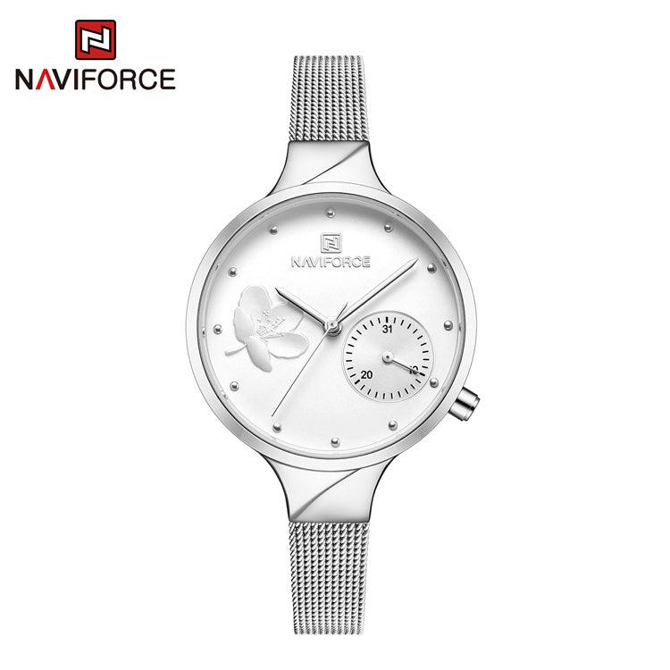 Naviforce 5001 Caravelle Steel Women Watch - Silver
