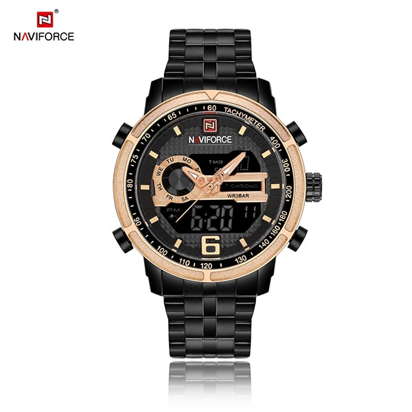 Naviforce 9119 Pluto Classic Watch - Gold Lube