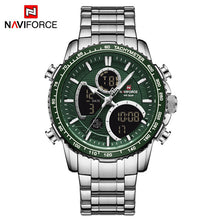 Naviforce 9182 Torpedo Men Watch - Silver Green