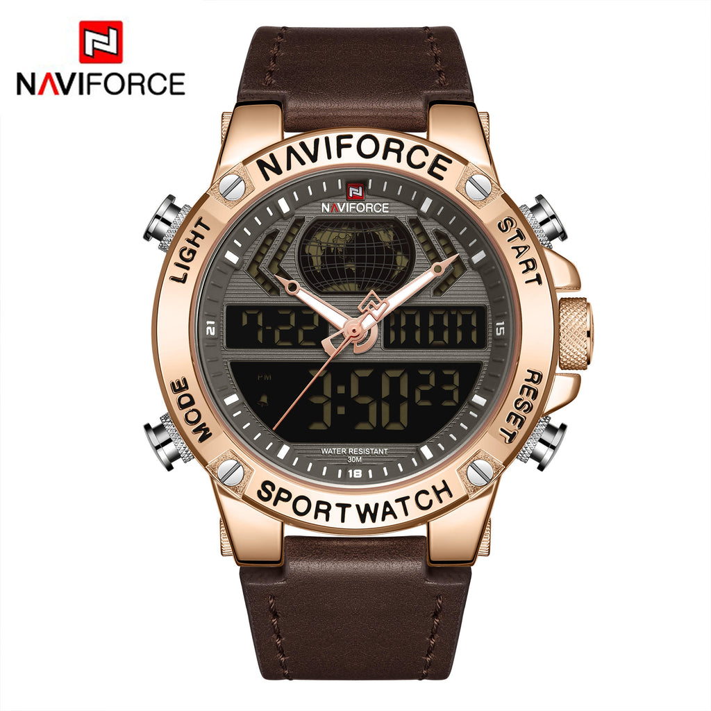 Naviforce 9164 War Tank Men Watch - Brown