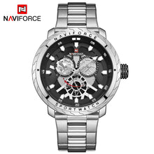 Naviforce 9158 Malibu Men Watch - Silver