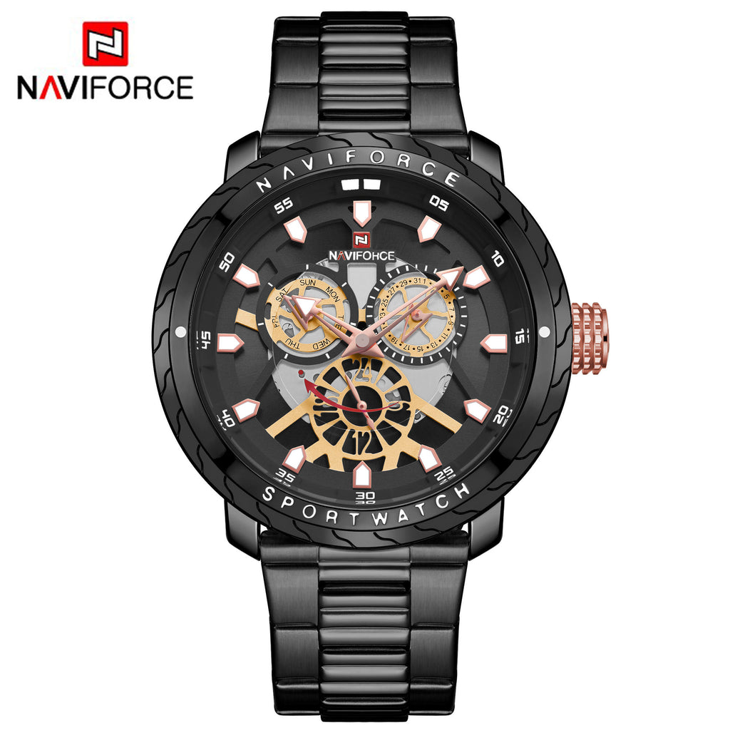 Naviforce 9158 Malibu Men Watch - Black