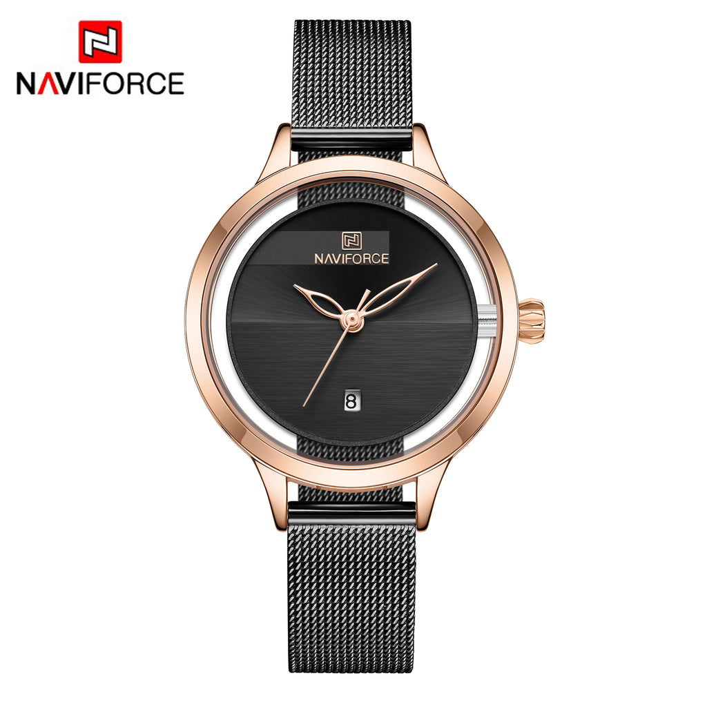 Naviforce 5014 Aurora Women Watch - Black