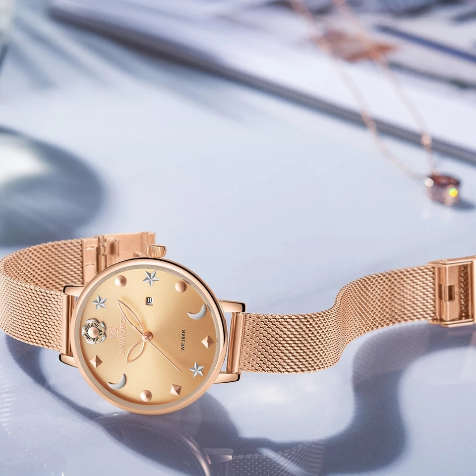 Naviforce 5009 Signora Women Watch - Rose Gold