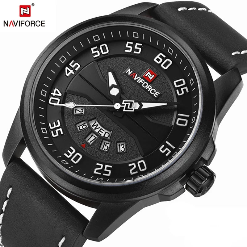 Naviforce 9124 Dynamo Sport Watch - Black