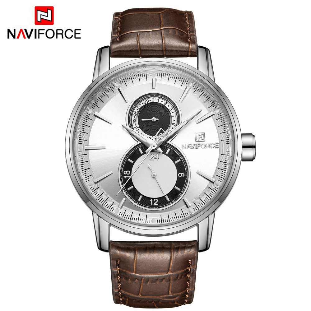 Naviforce 3005 Trendy Business Men Watch - Brown