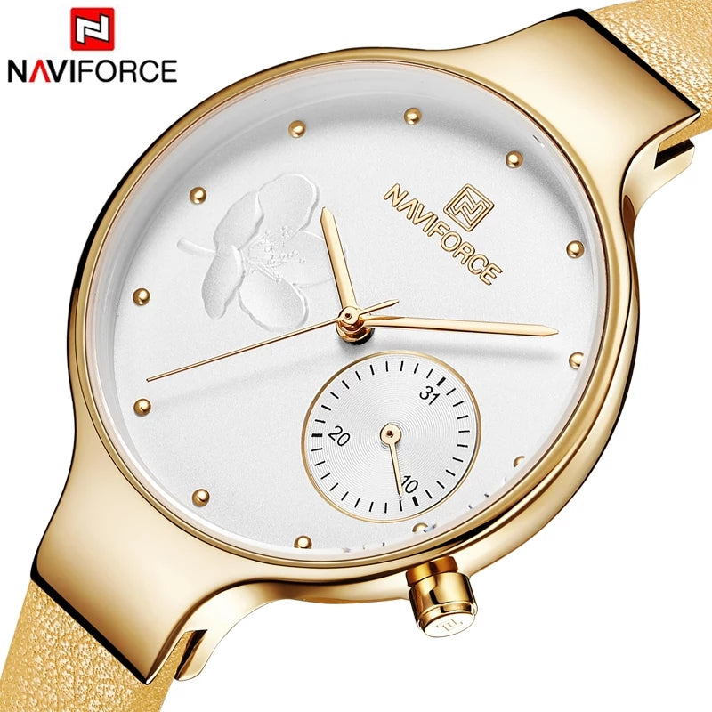 Naviforce 5001 Caravelle Luxury Ladies Watch - Yellow
