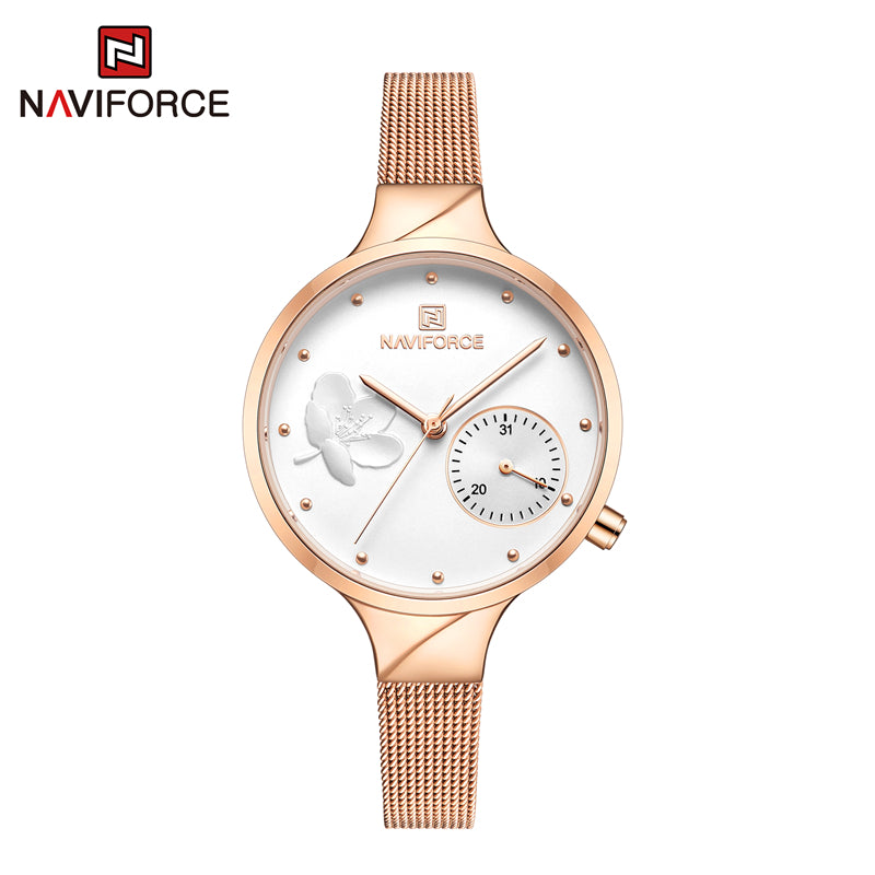 Naviforce 5001 Caravelle Steel Women Watch - Gold