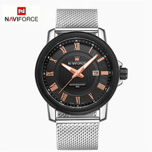 Naviforce 9052 Foxfire Mesh Unisex Watch - Black Face
