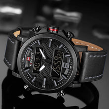 Naviforce 9135 Slingshot Men Watch - Black