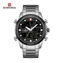 Naviforce 9138 Relogio Men Watch - Silver
