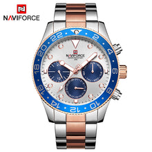 Naviforce 9147 Luxury Ritzy Men Watch - Silver Gold