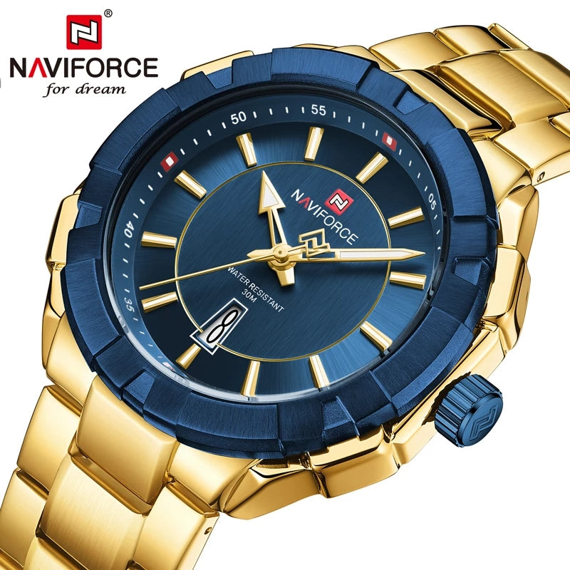 Naviforce 9176 Cannonade Men Watch - Gold