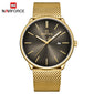 Naviforce 3012 Polo Men Watch - Gold