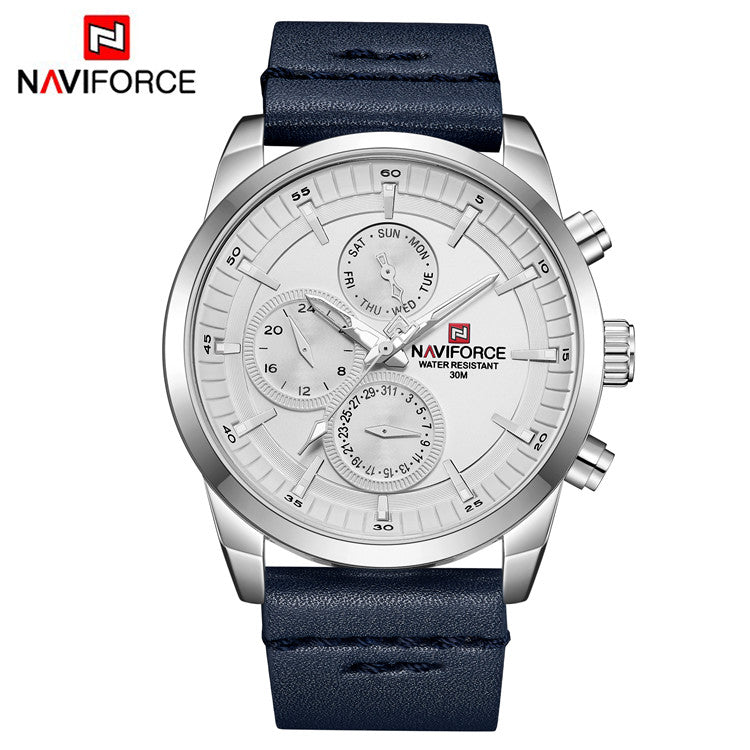 Naviforce 9148 Leather Business Watch
