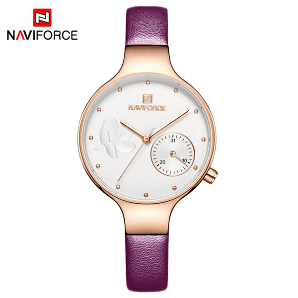 Naviforce 5001 Caravelle Luxury Ladies Watch - Purple