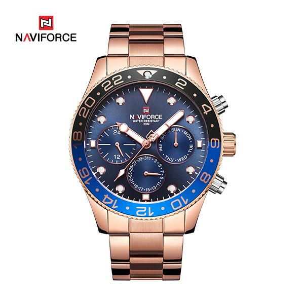 Naviforce 9147 Luxury Ritzy Men Watch - Gold
