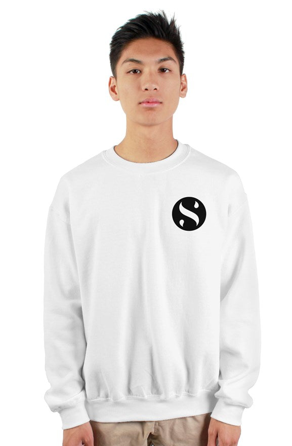 White Crew Neck Logo Sweatshirt
