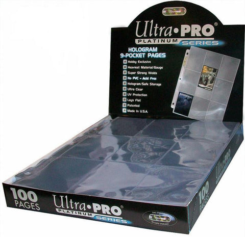 UltraPRO 9 pkt Card Sheet Box (100ct)