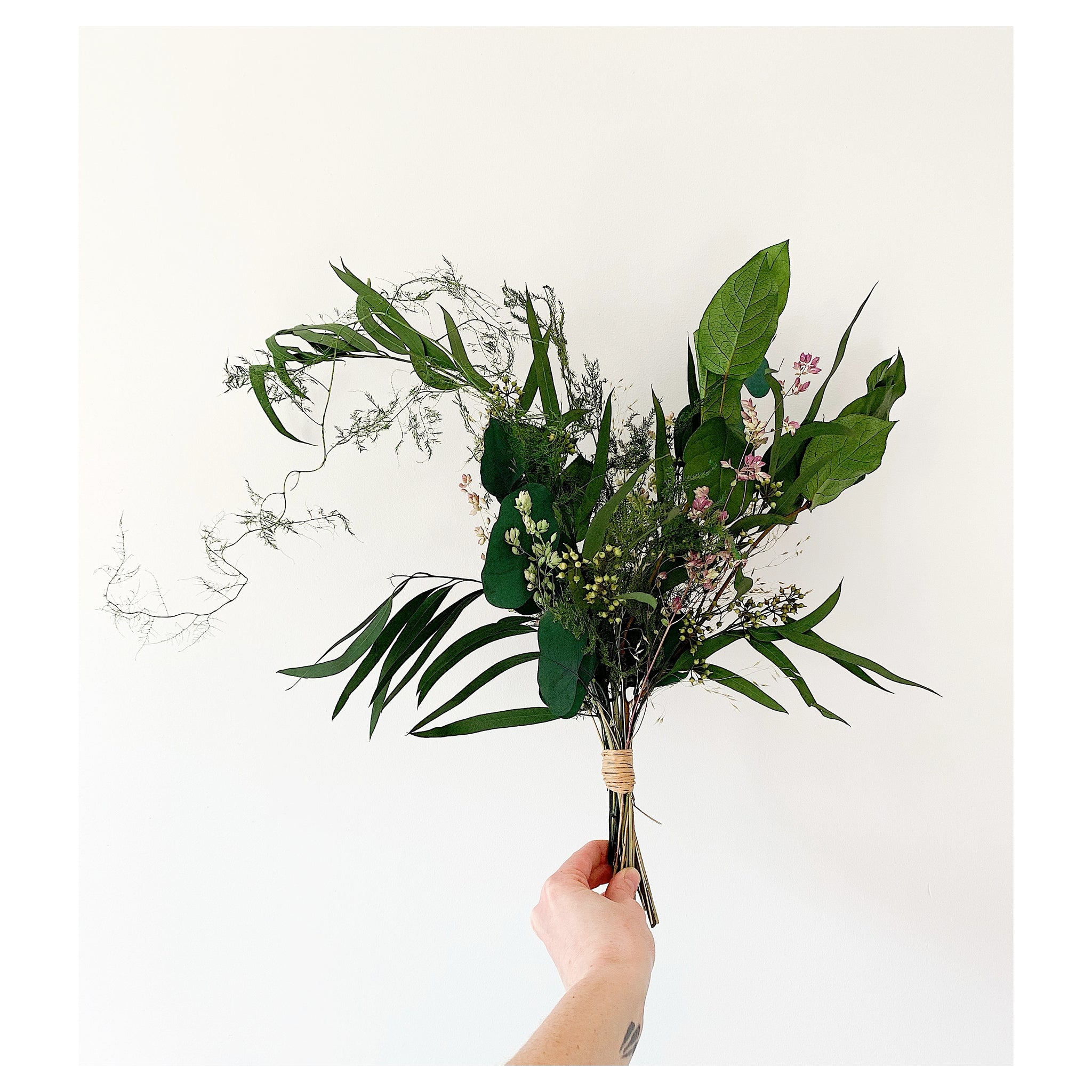 Fern and Eucalyptus Forever Bouquet