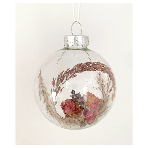 Grass, Oregano, and Lavender Glass Ornament