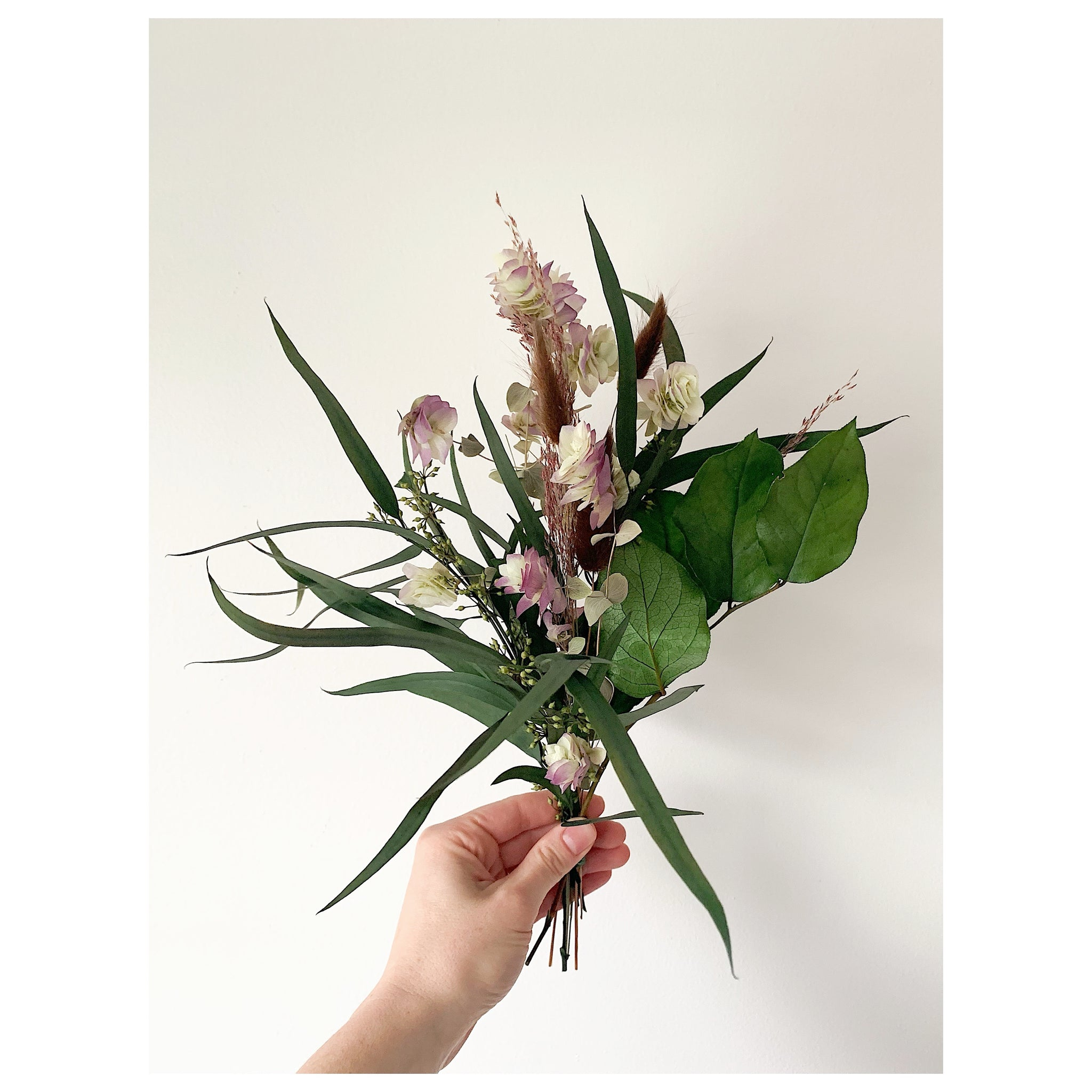 Small Eucalyptus and Oregano Forever Bouquet