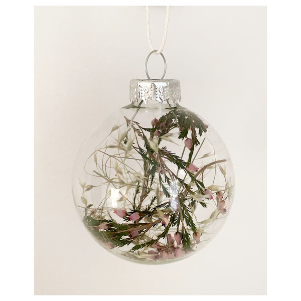 Heather and Grass Glass Ornament