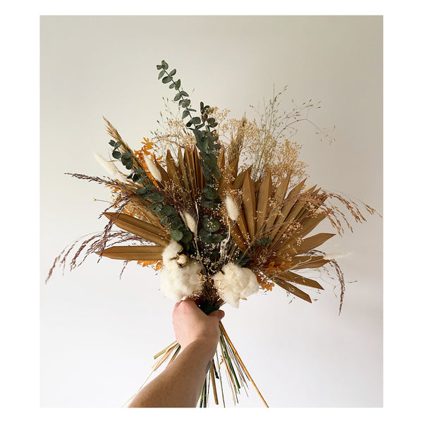 CUSTOM TERRACOTTA AND NATURAL FOREVER BOUQUET