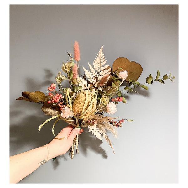 Fern, Banksia, and Eucalyptus Forever Bouquet
