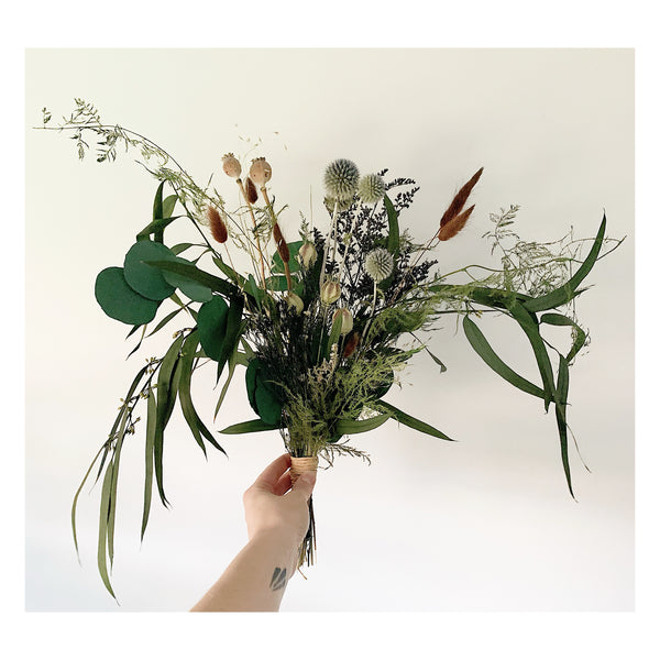 Wild Fern and Eucalyptus Forever Bouquet