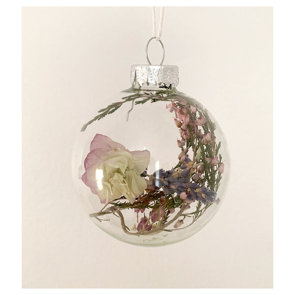 Heather and Oregano Glass Ornament