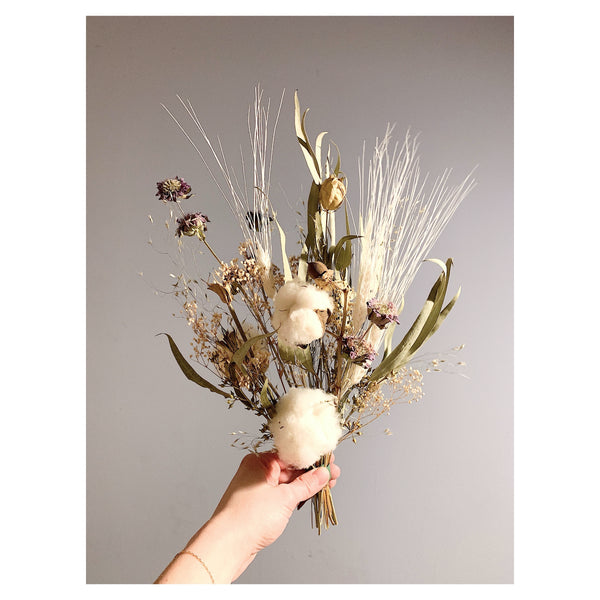 Cotton and Eucalyptus Forever Bouquet