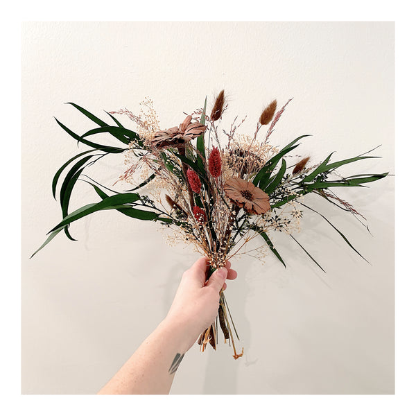 Protea and Seeded Eucalyptus Small Forever Bouquet