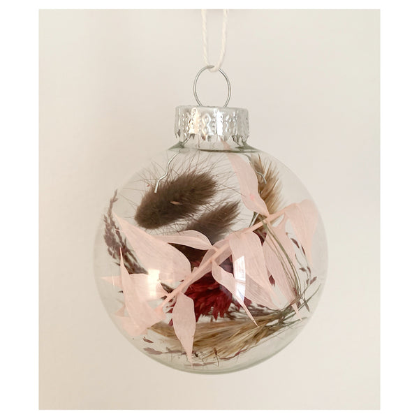 Bunny Tail and Rustica Glass Ornament