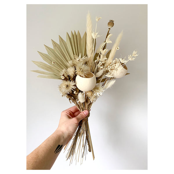 WHITE AND NATURAL FOREVER BOUQUET