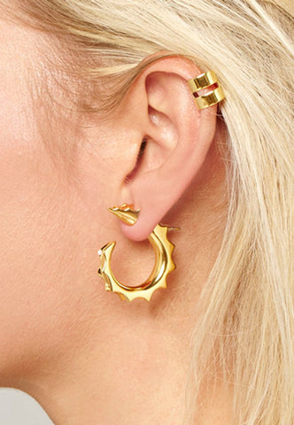 The Spike Jonze Hoop Earring - 18k Gold - Shop Online - Saint Bowery